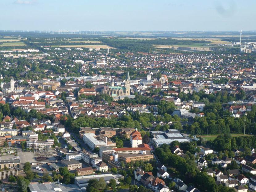 Paderborner Dom, Paderborn, Ballonfahrt Paderborn