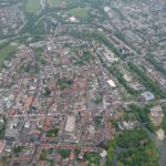 Altstadt Lippstadt aus dem Heißluftballon