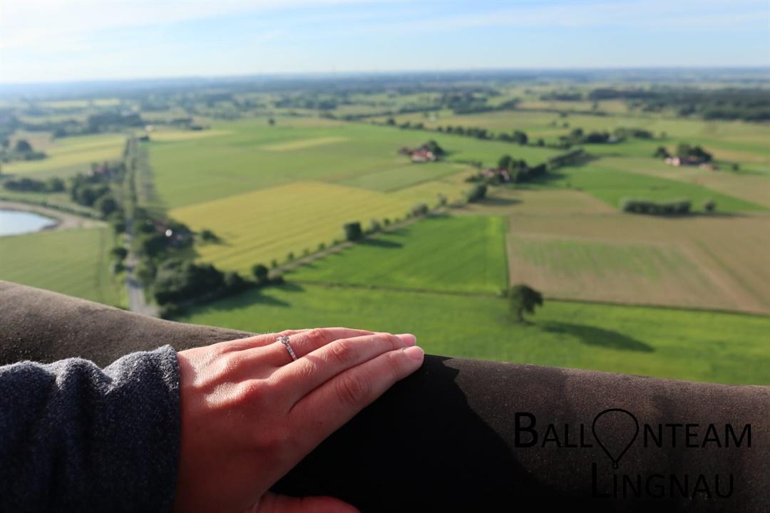 Verlobung Paderborn Heißluftballon